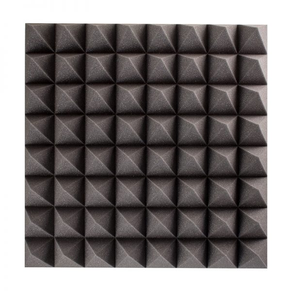 100mm pyramid sound absorption wall mounted