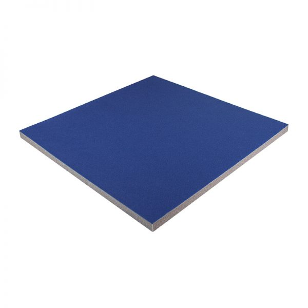20mm blue felt coloured acoustic foam tile