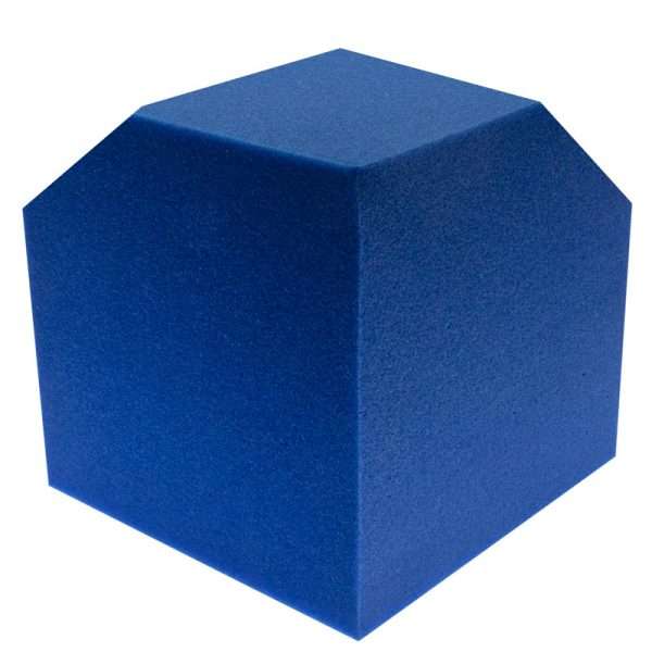 blue corner cube bass trap