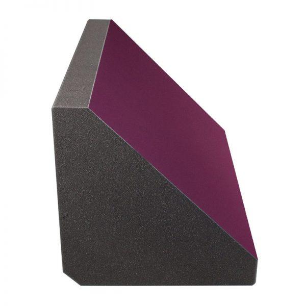 purple felt coloured acoustic foam bass trap