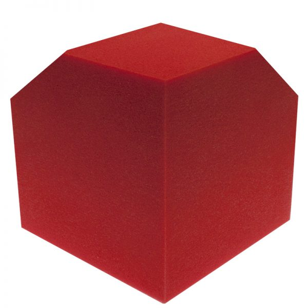 red corner cube bass trap