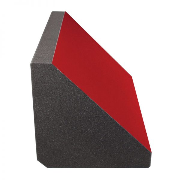 red felt coloured acoustic foam bass trap